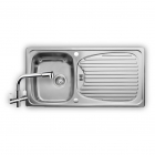 Image for Leisure Euroline 950x508 1.0B Polished Stainless Steel Kitchen Sink Inc. Waste and AD4 Tap - EL9501/TCAD4-AN