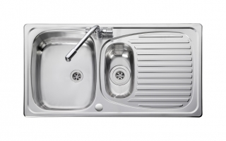 Leisure Euroline EL9502 1.5 Bowl 1TH Stainless Steel Inset Kitchen Sink