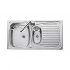 Image for Leisure Euroline EL9502 1.5 Bowl 1TH Stainless Steel Inset Kitchen Sink - Reversible