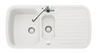 Leisure Highlight Velstra VHL2 1.5 Bowl Kitchen Sink - White