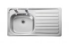 Image for Leisure Lexin LE95R 1.0 Bowl 2TH Stainless Steel Inset Kitchen Sink - Right Hand Drainer