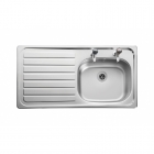 Image for Leisure Lexin LN95L 1.0 Bowl 2TH Stainless Steel Inset Kitchen Sink - Left Hand Drainer
