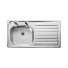 Image for Leisure Lexin LN95R 1.0 Bowl 2TH Stainless Steel Inset Kitchen Sink - Right Hand Drainer