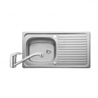 Image for Leisure Linear 950x508 1.0B Satin Stainless Steel Kitchen Sink Inc. Waste and MO35 Tap - LR9501/TMO35