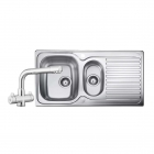 Image for Leisure Linear 950x508 1.5B Satin Stainless Steel Kitchen Sink Inc. Waste and DR1 Tap - LR9502/TDR1