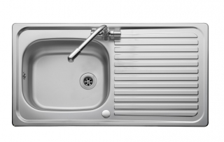 Leisure Linear LN950 1.0 Bowl 1TH Stainless Steel Kitchen Sink - Reversible
