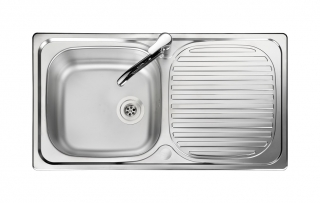 Leisure Linear LN950XS 1.0 Bowl 1TH Stainless Steel Kitchen Sink - Reversible