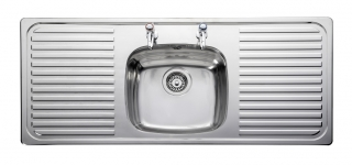 Leisure Linear LR1160 1.0 Bowl 2TH Stainless Steel Kitchen Sink