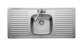 Leisure Linear LR11601TH 1.0 Bowl 1TH Stainless Steel Kitchen Sink