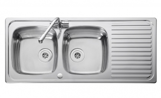 Leisure Linear LR1160DB 2.0 Bowl 1TH Stainless Steel Kitchen Sink - Reversible