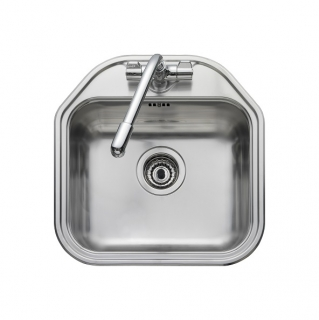 Leisure Linear LR460 1.0 Bowl 1TH Stainless Steel Kitchen Sink