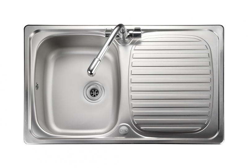 f2fbc11377 Leisure Linear LR8001 1.0 Bowl 1TH Stainless Steel Kitchen Sink - Reversible
