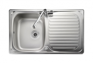 Leisure Linear LR8001 1.0 Bowl 1TH Stainless Steel Kitchen Sink - Reversible