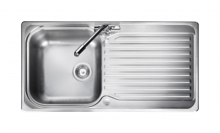 Leisure Linear LR985PLUS 1.0 1TH Stainless Steel Kitchen Sink - Reversible