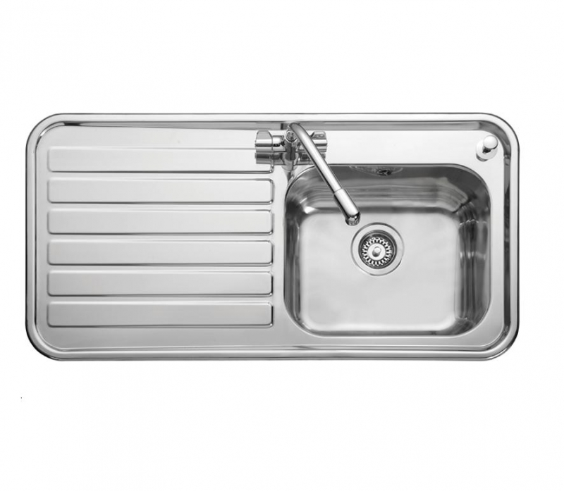 Leisure Luxe LX105L 1.0 Bowl 1TH Stainless Steel Inset Kitchen Sink ...