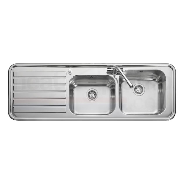 Leisure Kitchen Sinks : Leisure Luxe LX155L 2.0 Bowl 1TH Stainless Steel Inset Kitchen Sink ...