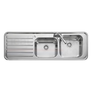 Leisure Luxe LX155L 2.0 Bowl 1TH Stainless Steel Inset Kitchen Sink - Left Hand Drainer