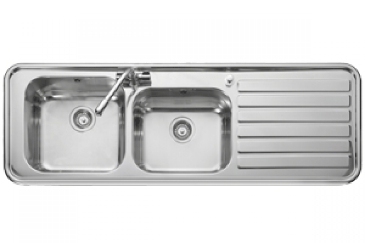 Leisure Luxe LX155R 2.0 Bowl 1TH Stainless Steel Inset Kitchen Sink ...