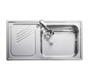 Leisure Proline PL9851L 1.0 Bowl 1TH Stainless Steel Inset Kitchen Sink - Left Hand Drainer