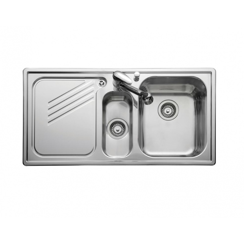 Leisure Proline Pl9852l 1 5 Bowl 1th Stainless Steel Inset Kitchen Sink Left Hand Drainer Kitchen Sink