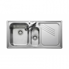 Leisure Proline PL9852R 1.5 Bowl 1TH Stainless Steel Inset Kitchen Sink - Right Hand Drainer
