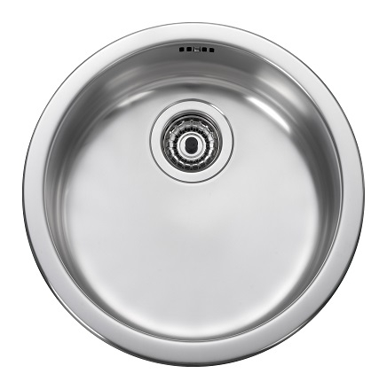 Leisure rb440bf 1 0 bowl round inset stainless steel - Round stainless steel kitchen sink ...