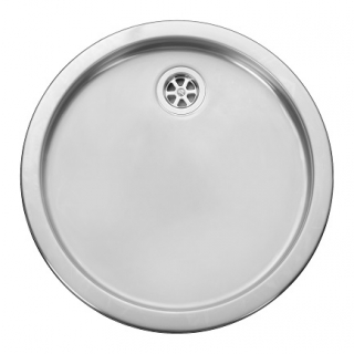 Leisure RD440BF 1.0 Bowl Round Inset Stainless Steel Kitchen Sink