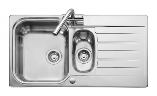 Leisure Seattle SE9502 1.5 Bowl 1TH Stainless Steel Inset Kitchen Sink - Reversible