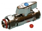 """Image for 15mm x 1/2"""" Chrome Plated Straight Lever Operated Service Valve"""