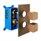 Image for Loch 1 Outlet With Easi Box - Square Brushed Bronze - PMN0106