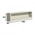 Image for Loch Recessed  Storageunit 1600X350X180  - PMN0535