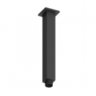 Image for Loch Square Fixed Ceiling Arm 200mm Black - PMN0166