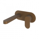 Image for Loch Wall Mounted Basin Mixer Brushed Bronze - PMN0047
