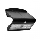 Image for Luceco LEXS80B40-01 6.8W Solar Guardian Wall Light with PIR - Black