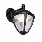 Image for Lutec Unite 9w LED Outdoor Down Wall Lantern Black - 5260201012