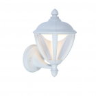 Image for Lutec Unite 9w LED Outdoor Up Wall Lantern White - 5260101030