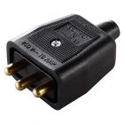 Image for Masterplug Black 3 Pin Heavy Duty Non Reversible in Line Connector - NC103B
