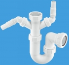 """Image for McAlpine 1 1/2"""" Twin Nozzle Sink Trap - WM11"""