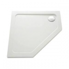 Image for Mira Flight Low Profile Pentangle Shower Tray 900mm x 900mm - 1.1697.016.WH (Waste and Trap Included)