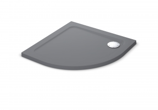 Mira Flight Safe Coloured 900mm Quadrant Shower Tray - Grey Anthracite