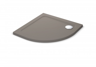 Mira Flight Safe Coloured 900mm Quadrant Shower Tray - Taupe
