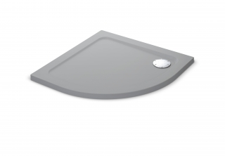 Mira Flight Safe Coloured 900mm Quadrant Shower Tray - Titanium Silver