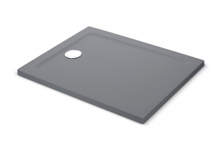 Mira Flight Safe Coloured Rectangle Shower Tray - Grey Anthracite