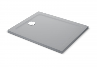 Mira Flight Safe Coloured Rectangle Shower Tray - Titanium Silver
