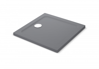 Mira Flight Safe Coloured Square Shower - Grey Anthracite