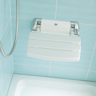 Mira Shower Seat - White/Chrome (2.1536.129)