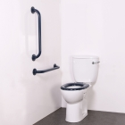 Nymas NymaCARE Close Coupled Ambulant Doc M Toilet Pack With Concealed Fixings Mild Steel Rail Dark Blue - AMBCCC DB