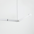 Image for Nymas NymaCARE L-Shaped Shower Curtain Rail - 1200mm x 1200mm - White - 250502/WH