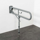 Image for Nymas NymaPRO 800mm Hinged Rail With Leg & Toilet Roll Holder Grey - DDGR-BP/GY