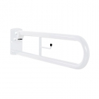 Image for Nymas NymaPRO 800mm Hinged Rail With Toilet Roll Holder White - DDGR-B/WH